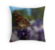 Butterfly & Lavender Throw Pillow