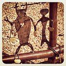 Love locks by Linda Sannuti