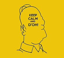 Keep Calm and D'OH! - iPhone Edition by Vahlia