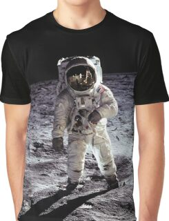 Buzz Aldrin on the Moon Graphic T-Shirt