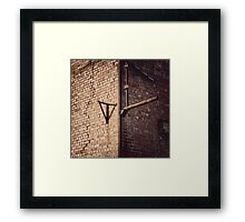 Brick Wall Light Shade Framed Print
