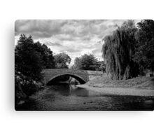 Sinnington Bridge in monochrome Canvas Print