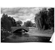 Sinnington Bridge in monochrome Poster