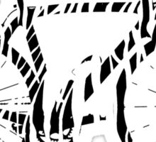 Bike Zebra Black & White (Big) Sticker