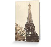 Eiffel Tower Carousel Greeting Card