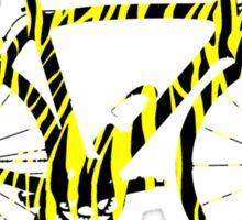 Bike Stripes Zebra (Black & Yellow) Sticker