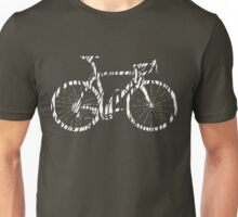 Bike Zebra White (Big) Unisex T-Shirt