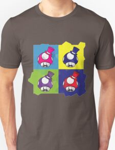 Villainous Mushrooms Pop Art T-Shirt