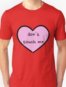Sassy Heart–don't touch me–Mauve T-Shirt