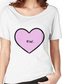 Sassy Heart–ew.–Mauve Women's Relaxed Fit T-Shirt