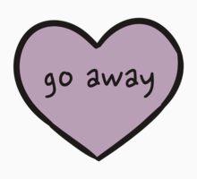 Sassy Heart–go away–Mauve by Sam Asselman