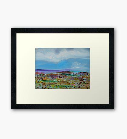 Blue Mountain 1. (Road Trip, South Island, New Zealand.) Framed Print