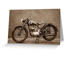 Puch 125 T Greeting Card