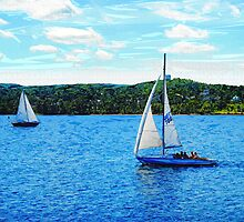 Sailboats In The Summer by Phil Perkins