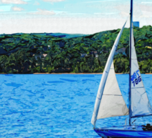 Sailboats In The Summer Sticker