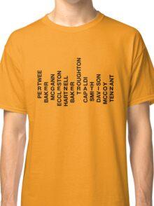 Regeneration 12 Doctors Wordsearch 2 Classic T-Shirt