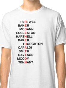 Regeneration 12 Doctors Wordsearch 3 Classic T-Shirt