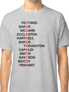 Regeneration 12 Doctors Wordsearch 3 Classic T-Shirt