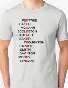 Regeneration 12 Doctors Wordsearch 3 Unisex T-Shirt