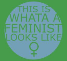 This Is What A Feminist Looks Like (blue) Kids Clothes