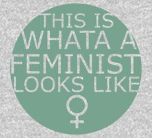 This Is What A Feminist Looks Like (green) Kids Clothes