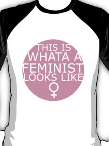 This Is What A Feminist Looks Like (pink) T-Shirt