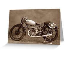 Puch S4 Race Greeting Card