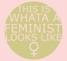 This Is What A Feminist Looks Like (yellow) Kids Clothes
