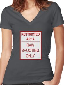 Restricted Area Women's Fitted V-Neck T-Shirt