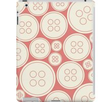 Buttons - red iPad case iPad Case/Skin