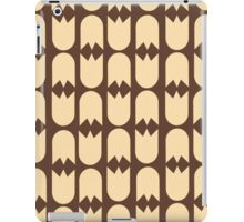 Tulip pattern brown iPad case iPad Case/Skin