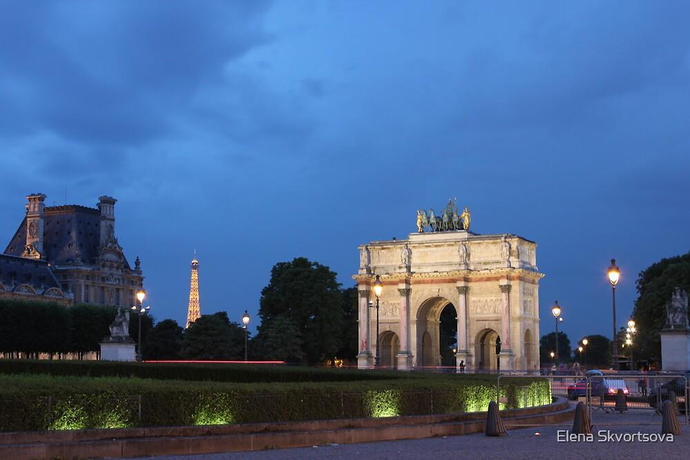 Paris at dusk by Elena Skvortsova