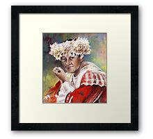 Polynesian Woman Framed Print