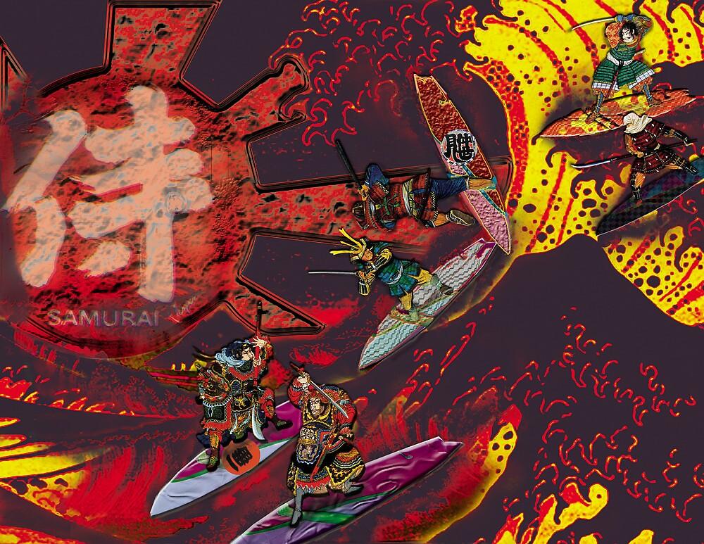 Samurai Surf Tsunami Shogun Showdown (version Black Dragon) by Trickmaster