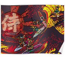 Samurai Surf Tsunami Shogun Showdown (version Black Dragon) Poster