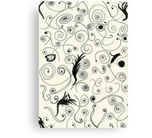 Squiggle Pen & Ink Canvas Print