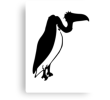 Black Vulture Silhouette Canvas Print