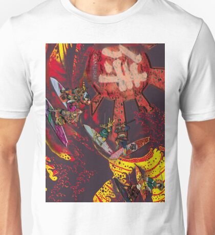 Samurai Surf Tsunami Shogun Showdown (version Black Dragon) Unisex T-Shirt