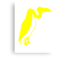 Yellow Vulture Silhouette Canvas Print
