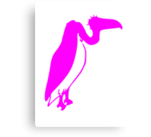 Pink Vulture Silhouette Canvas Print