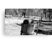 The old fence line in the back paddock Canvas Print