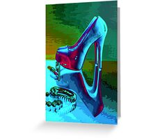 Abstract Heels Greeting Card