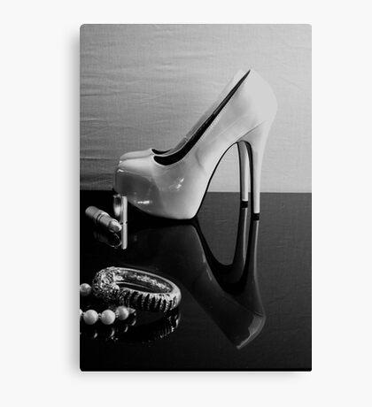 Monochrome Heels Canvas Print