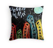 urban dwelling Throw Pillow