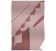 Pink Stairs And Facade Poster
