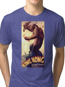 King Kong movie poster Tri-blend T-Shirt