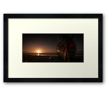 Fishing Boat at Sunrise Framed Print