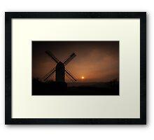 Sunset Jill Windmill, Clayton Framed Print