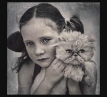 A Girl and her Cat Kids Clothes