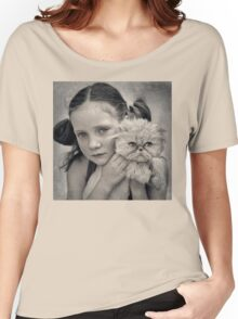 A Girl and her Cat Women's Relaxed Fit T-Shirt